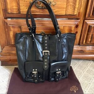 Like new Mulberry supple leather buckle tote